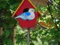 Vogelhäuschen im Mehrgenerationengarten